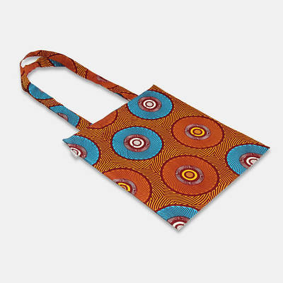 buy colourful African cotton bag in colour blue-orange
