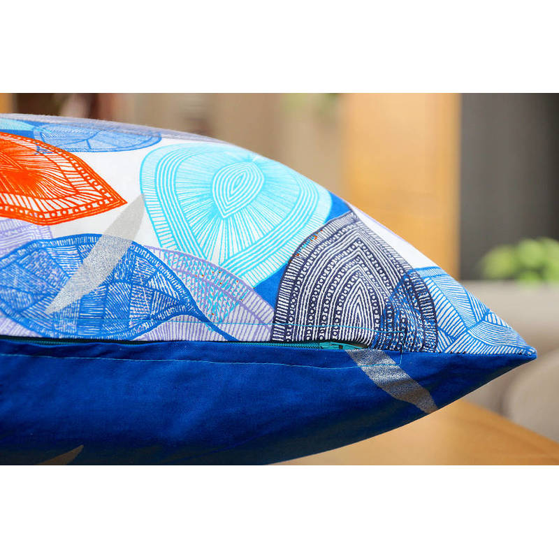 colorful pillowcase African Autumn blue-orange with zip 50x50cm online