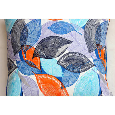 colorful pillowcase African Fall with orange-blue leaf design 50x50cm online