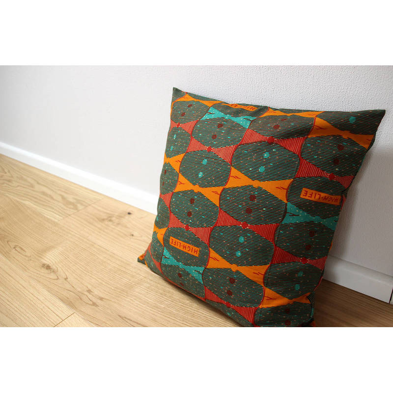 Buy colorful orange pillowcase Highlife with bow tie pattern 50x50cm
