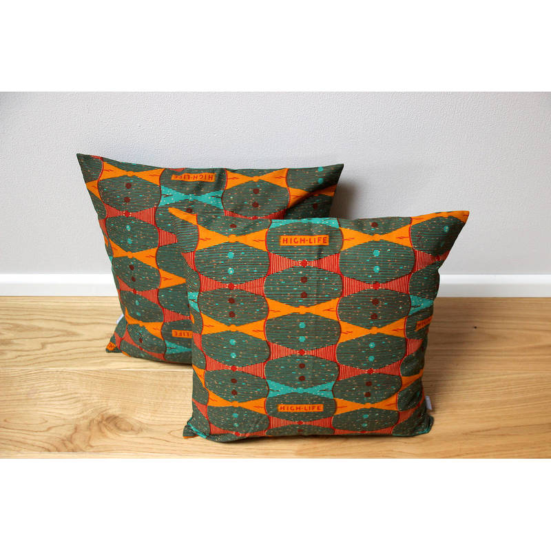colorful pillowcase Highlife with orange bow tie design 50x50cm online