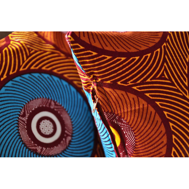 colorful pillowcase  African Mama with zipper 50x50cm online