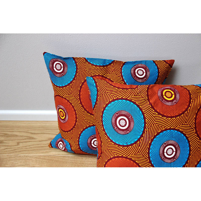 colorful pillowcase Mama Africa with orange-blue circle design 50x50cm online