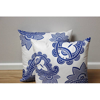 African pillowcase Afia with white-blue paisley pattern 40x40cm online