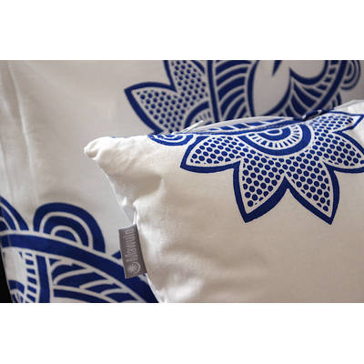 Buy colorful cushion cover Afia with white-blue paisley pattern 40x40cm