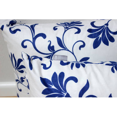 Buy African pillowcase Abena with white-blue floral pattern 40x40cm