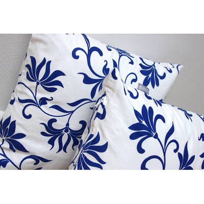 African pillowcase Abena with white-blue floral pattern 40x40cm online