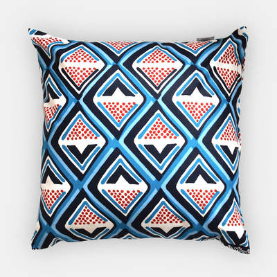 colorful pillowcase Kwame with dark blue-red diamond pattern 40x40cm online