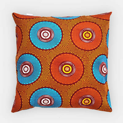 Buy colorful pillowcase Mama Africa with orange-blue circle pattern 50x50cm