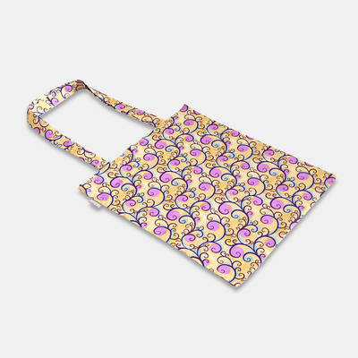 order colourful handmade cotton bag with flower pattern from Africa online