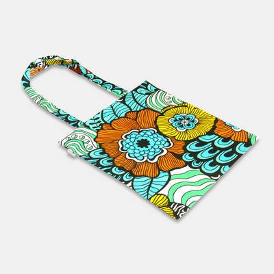 buy colourful African cotton bag with flower pattern