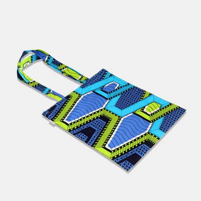 order blue-green cotton bag made in Africa online