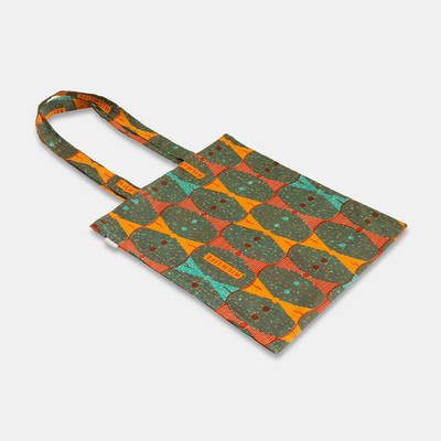 buy a beautiful African cotton fabric bag in warm autumn colours