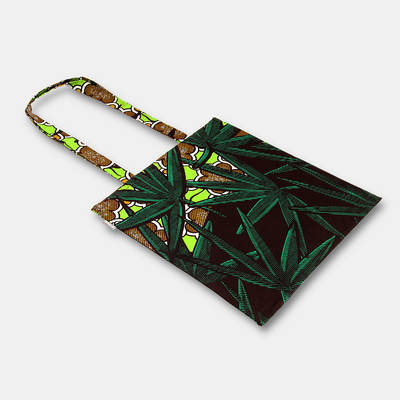 order green cotton bag made in Africa with jungle design online